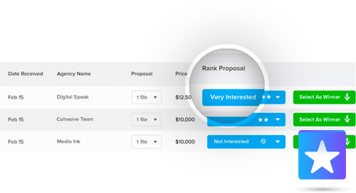 Compare & Rank Proposals In Your Dashboard