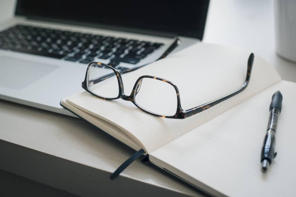Planner Glasses Laptop