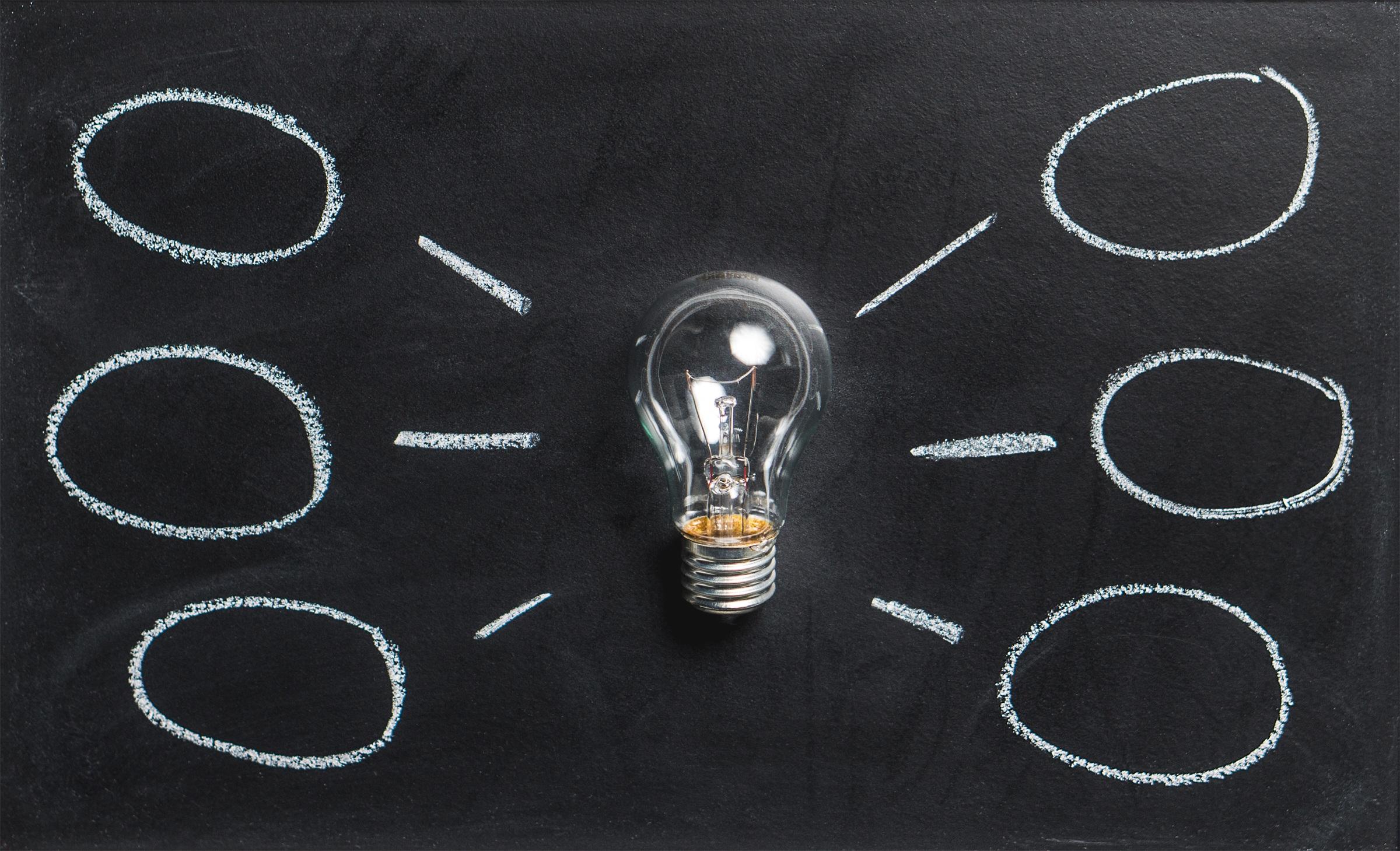 Chalkboard Lightbulb Idea