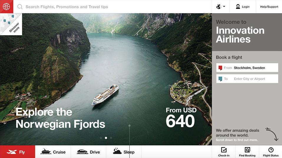 Fantasy Interactive Airline Website Design Concept