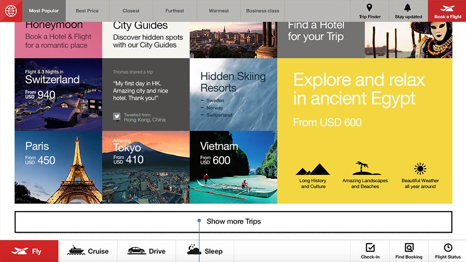 Fantasy Interactive Airline Website Design Concept Search Explore