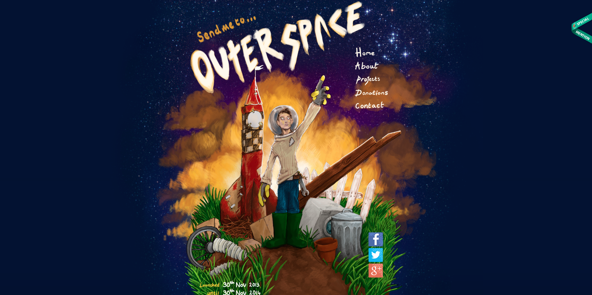 The most dazzling aerospace website designs that are for Outer space stage design