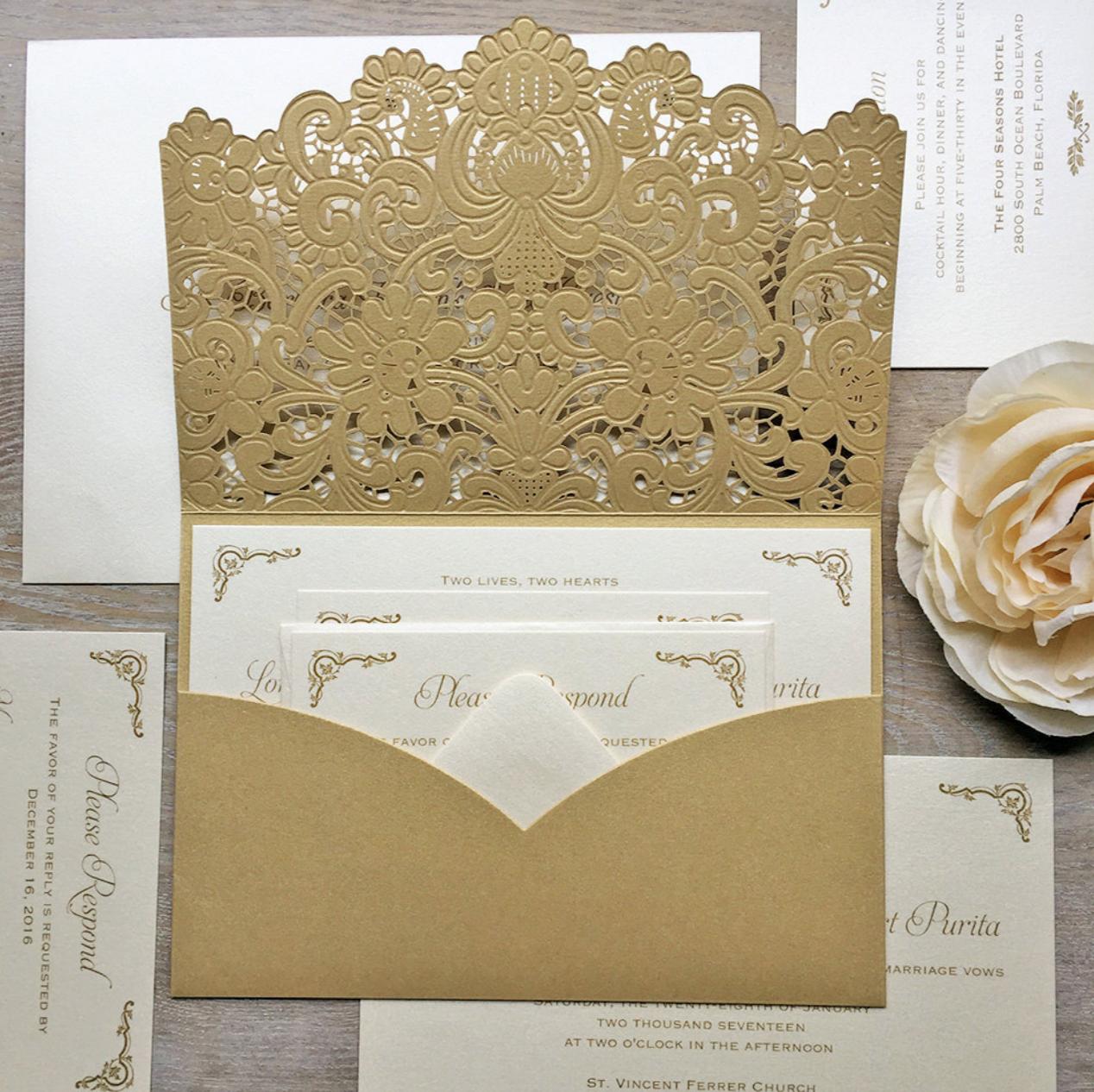 Luxurious Wedding Invitation Design