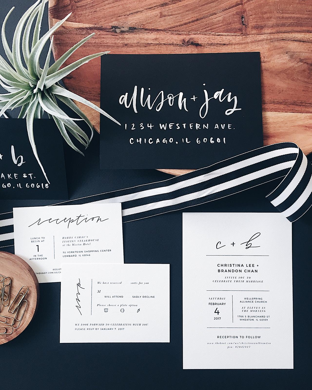Minimalist Wedding Invitation Design