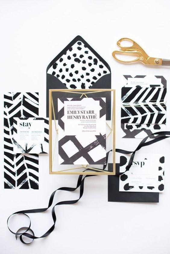 Black & White Wedding Invitation Design