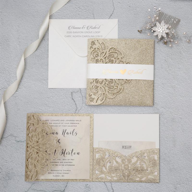 Glittery Wedding Invitation Design